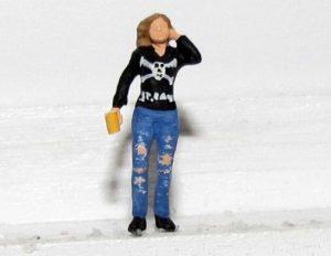 Jeannettes Figur im Miniatur-Millerntor