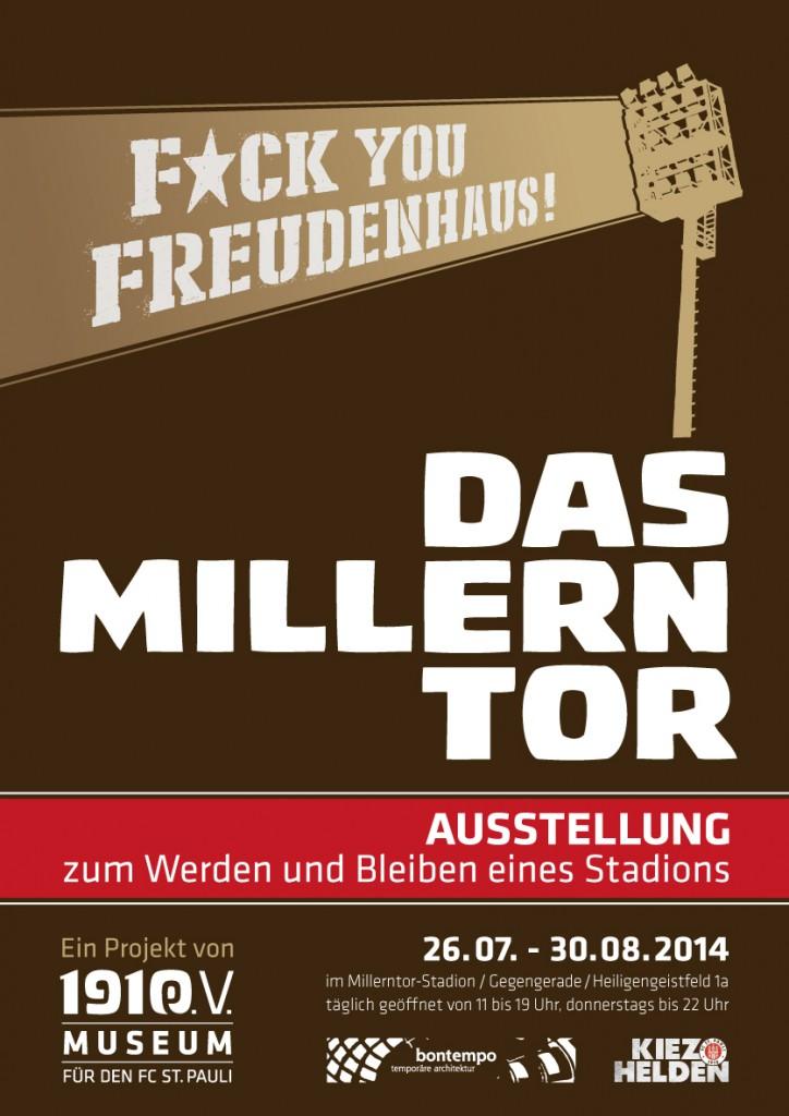 Das Plakat zur Millerntor-Ausstellung. Gestaltung: DJ DSL