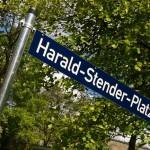 Schild Harald-Stender-Platz