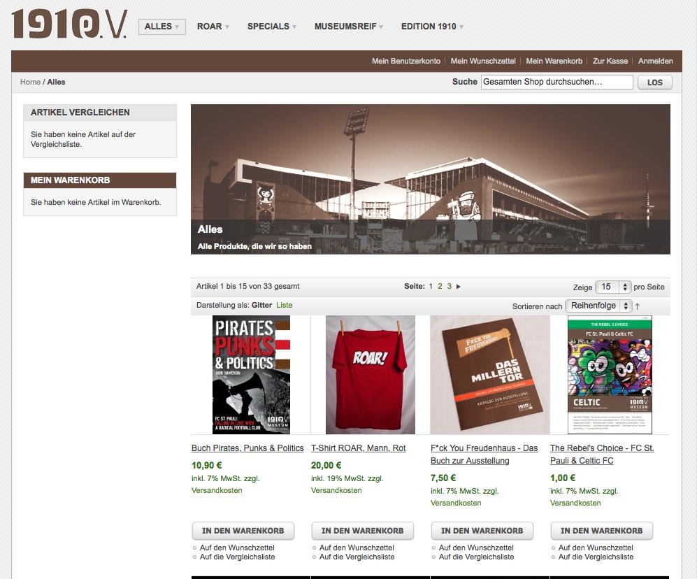 Jetzt eröffnet: Der 1910 e.V.-Onlineshop!