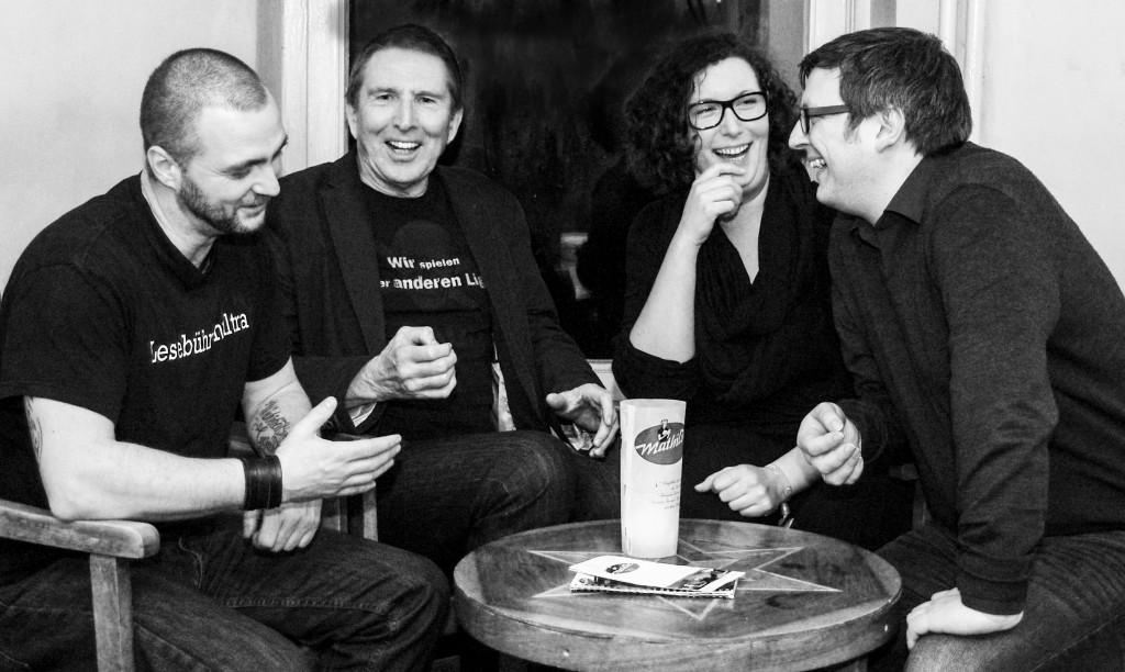 Das Hörbuch-Leseteam: Thomas Nast, Rainer Wulff, Liefka Würdemann, Christoph Nagel (Foto: Sabrina Adeline Nagel)