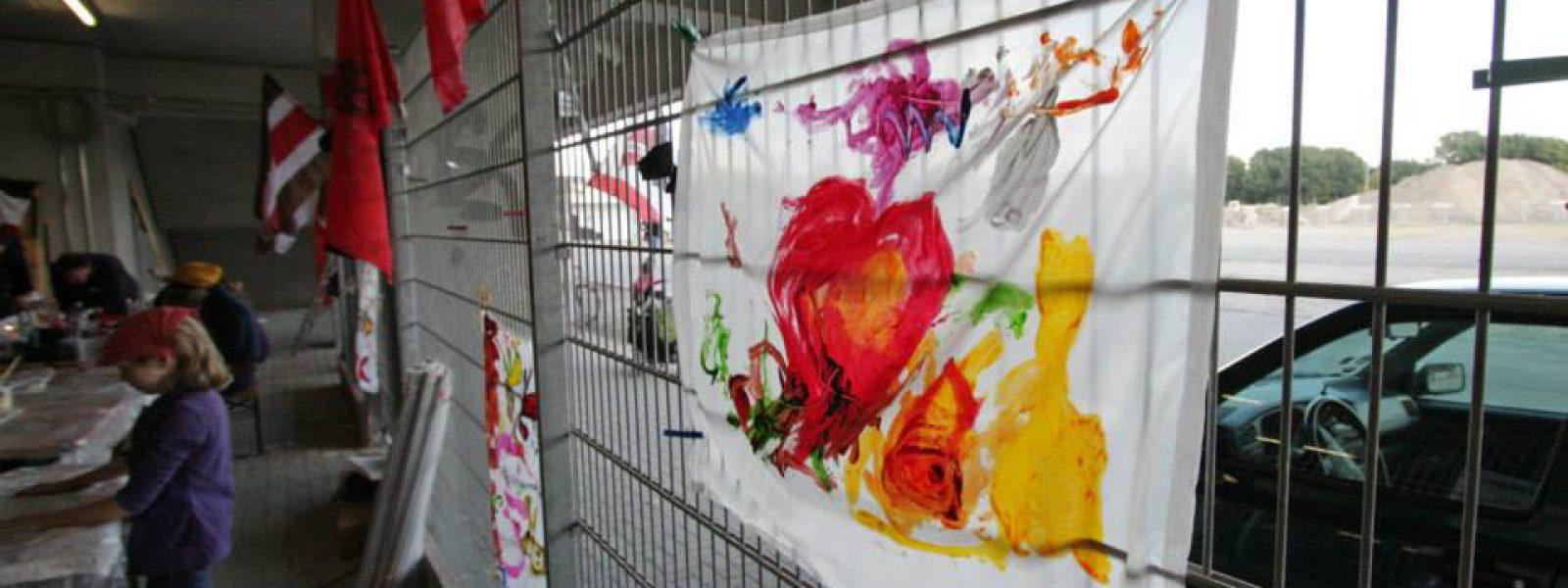 Fussball und Liebe Fahnenworkshop (Foto Antje Frohmüller)_12