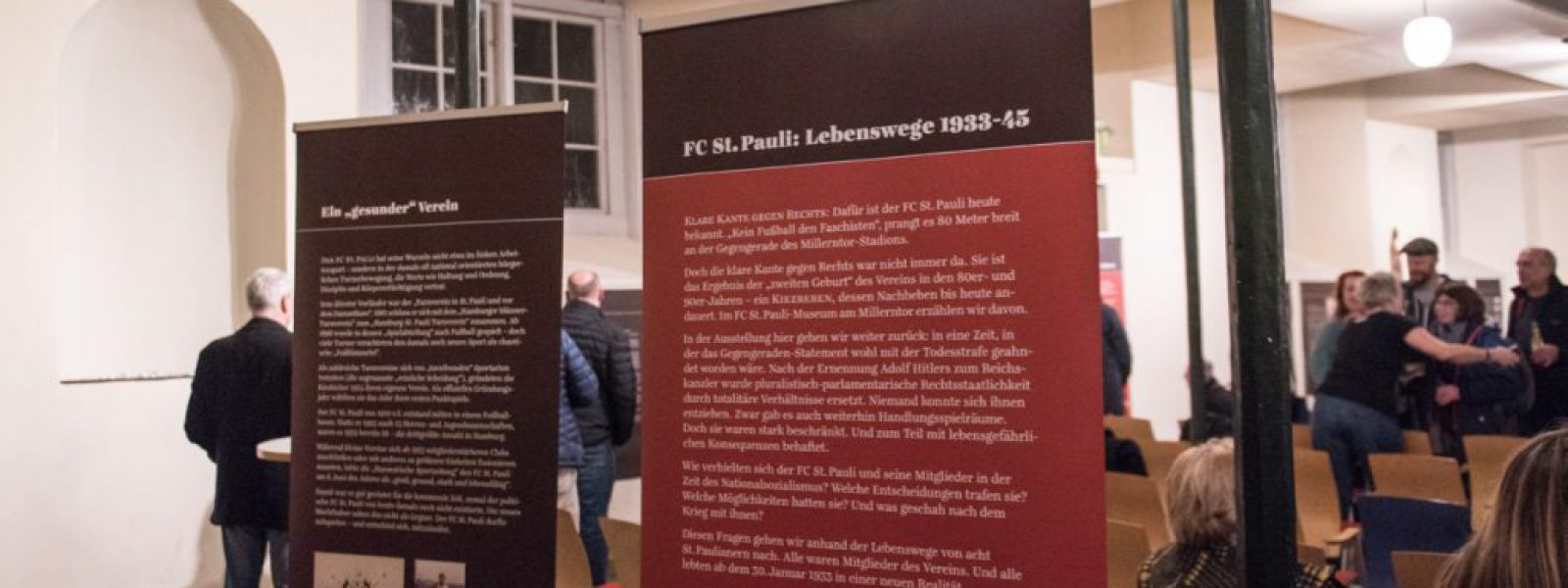 Vernissage FC St Pauli Lebenswege 1933-45 (Foto Sabrina Adeline Nagel) - 14